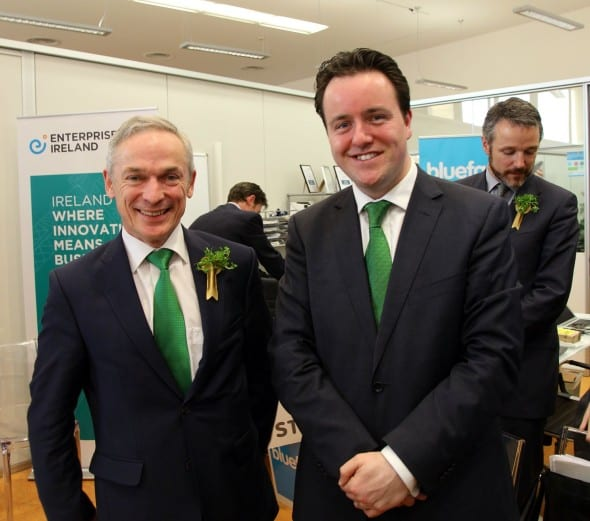 Minister Richard Bruton and Alan Foy