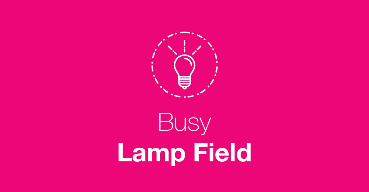Busy Lamp Field Issue