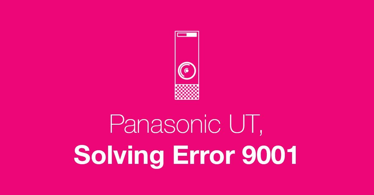 Panasonic Error 90001