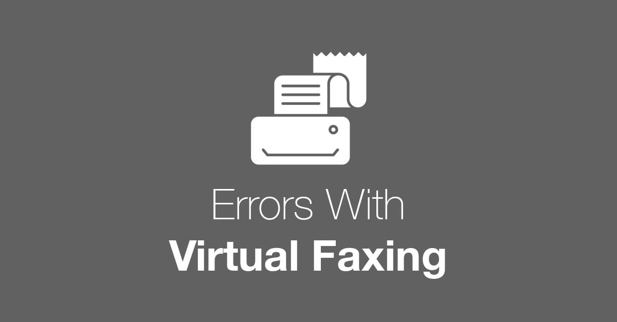 Virtual Fax Error