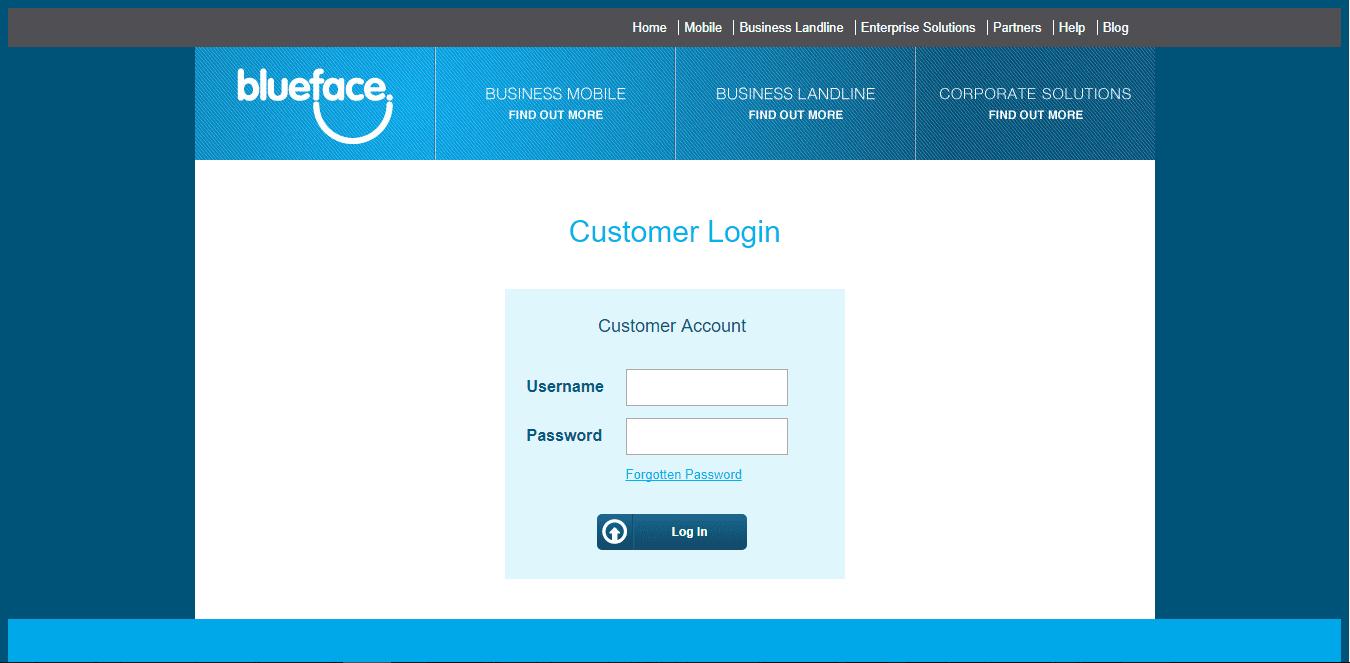 Account Login | Blueface